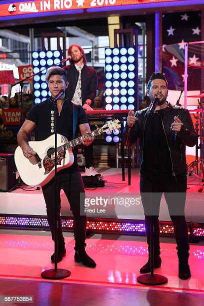 AMERICA Musical duo Dan Shay perform on GOOD MORNING AMERICA 8/8/16 airing on the ABC Television Network DAN SHAY