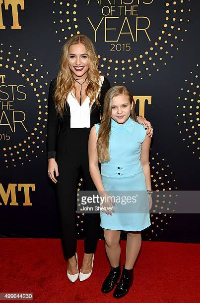 Musical duo Lennon Stella and Maisy Stella attend the 2015 'CMT Artists of the Year' at Schermerhorn Symphony Center on December 2 2015 in Nashville...