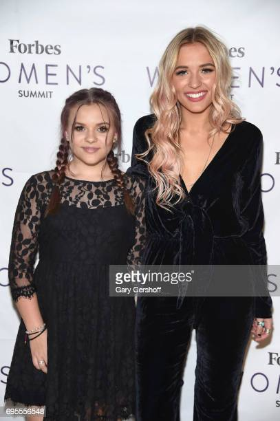 Musical duo Maisy Stella and Lennon Stella of Lennon Maisy attend the 2017 Forbes Women's Summit at Spring Studios on June 13 2017 in New York City