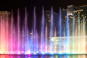 Musical Fountain at Night