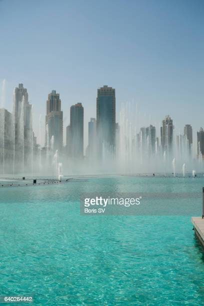 Musical fountains in Dubai downtown