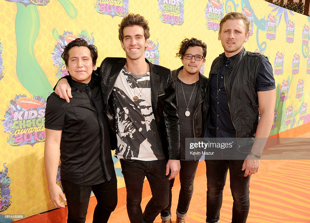 Musical group American Authors attend Nickelodeon's 27th Annual Kids' Choice Awards held at USC Galen Center on March 29, 2014 in Los Angeles, California.