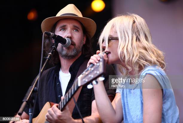 Musical group Broken Social Scene performs on the Sycamore stage during Arroyo Seco Weekend at the Brookside Golf Course at on June 24 2017 in...