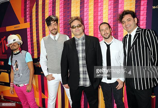 Musical group Cafe Tacuba arrive at the 7th Annual 'Los Premios MTV Latin America 2008' Awards held at the Auditorio Telmex on October 16 2008 in...