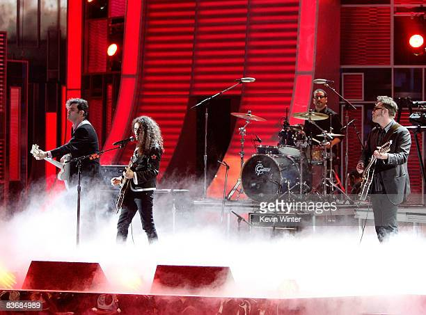 Musical group Cafe Tacuba perform onstage during the 9th annual Latin GRAMMY awards held at the Toyota Center on November 13 2008 in Houston Texas