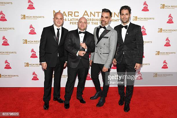 Musical group Caramelos de Cianuro attend the 2016 Person of the Year honoring Marc Anthony at MGM Grand Garden Arena on November 16 2016 in Las...