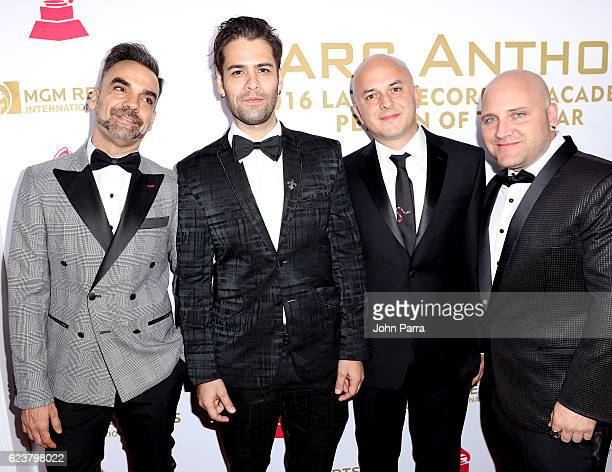 Musical group Caramelos de Cianuro attend the 2016 Person of the Year honoring Marc Anthony at the MGM Grand Garden Arena on November 16 2016 in Las...