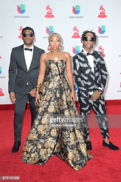 Musical group ChocQuibTown attend the 18th Annual Latin Grammy Awards at MGM Grand Garden Arena on November 16 2017 in Las Vegas Nevada