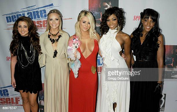 Musical group Danity Kane arrives at Declare Yourself's 'Domino Effect' Hollywood Event at The Green Door on September 24 2008 in Hollywood California
