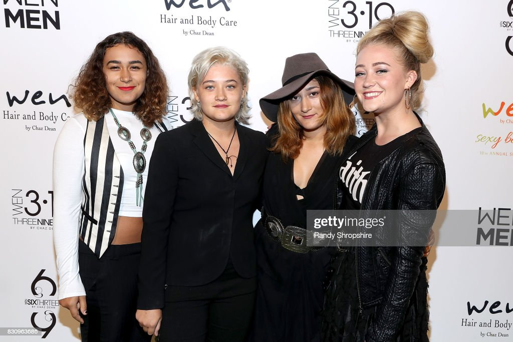 Musical group Darden attends Chaz Dean summer party benefiting Love Is Louder on August 12, 2017 in Los Angeles, California.