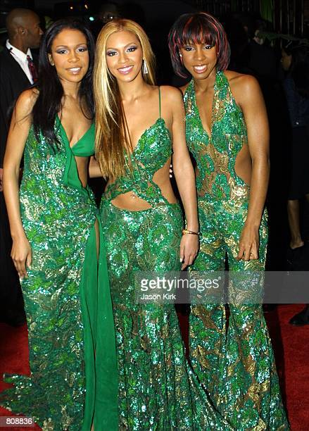 Musical group Destiny's Child arrives at Sony Music's private Grammy after party February 21 2001 in West Hollywood CA
