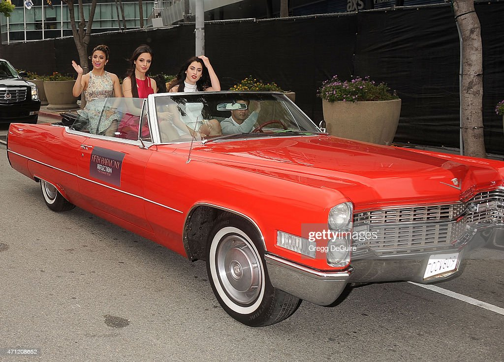 Musical group Fifth Harmony arrives at the 2015 Radio Disney Music Awards at Nokia Theatre L.A. Live on April 25, 2015 in Los Angeles, California.