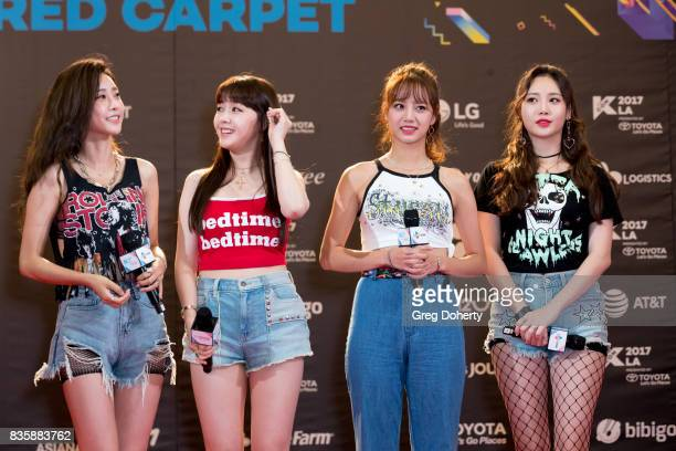 Musical Group Girl's Day attend the red carpet photo op at KCON 2017 on August 19 2017 in Los Angeles California