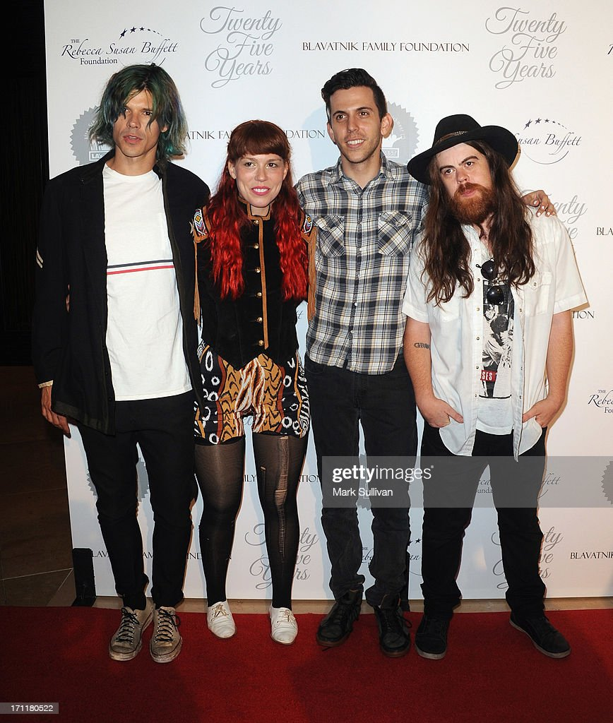 Musical group Grouplove attends LA's Best 25th Anniversary Gala at The Beverly Hilton Hotel on June 22, 2013 in Beverly Hills, California.