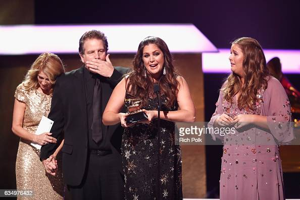 Musical group Hillary Scott The Scott Family accept the Best Contemporary Christian Music Performance/Song award for 'Thy Will' onstage at the...