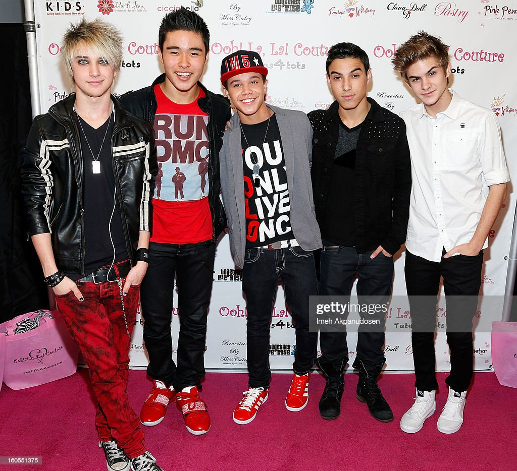 Musical group IM5 attends the 4th Annual Tutus4Tots Event at Together We Rise on February 2, 2013 in Chino, California.
