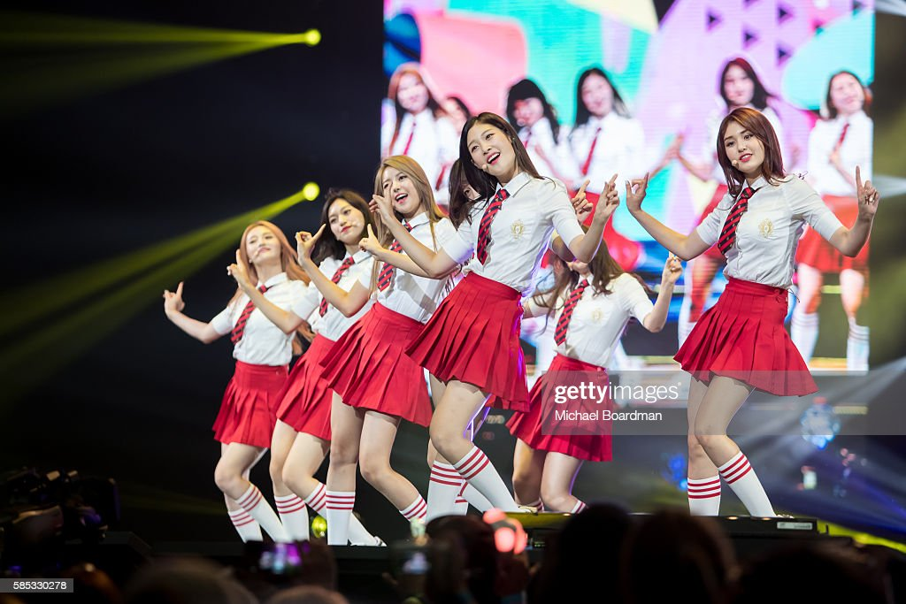 Musical group IOI perform at KCON LA 2016 at LA LIVE on July 30 2016 in Los Angeles California