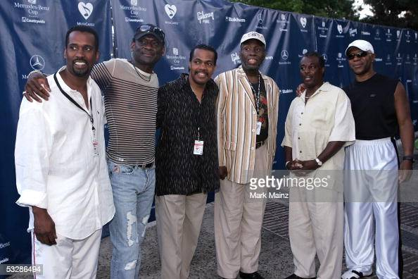 Musical group Kool The Gang arrive at the Gibson/Baldwin 'Night At The Net' Charity Event on July 25 2005 in the Los Angeles Tenis CenterUCLA in...