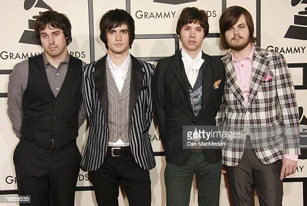 Musical group Panic At The Disco arrive on the red carpet for The 50th Annual Grammy Awards held at the Staples Center on February 10 2008 in Los...