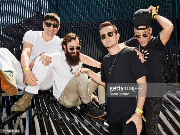 Steve Cooper Paul Michel Ronen Evron and Cal Stamp are photographed for Billboard Magazine on August 20 2017 at the Billboard Hot 100 Music Festival...