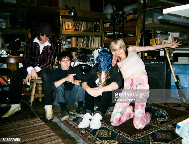 Musical group Starcrawler is photographed for Rough Trade Magazine on July 3 2017 in Los Angeles California