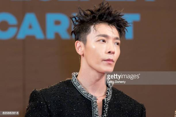 Musical Group Super Junior DE artist Donghae attends the red carpet photo op at KCON 2017 on August 19 2017 in Los Angeles California