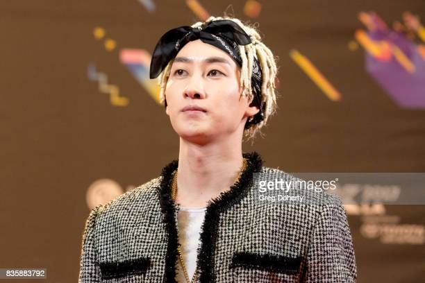 Musical Group Super Junior DE artist Eunhyuk attends the red carpet photo op at KCON 2017 on August 19 2017 in Los Angeles California