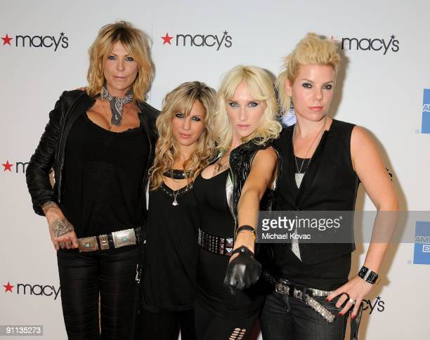 Musical group 'The Chelsea Girls' arrive at the 27th Annual Macy's Passport Fashion Show Benefit at Barker Hangar on September 24 2009 in Santa...
