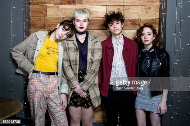 Musical group The Regrettes members Lydia Night Maxx Morando Genessa Gariano and Sage Chivas are photographed for Los Angeles Times on December 19...