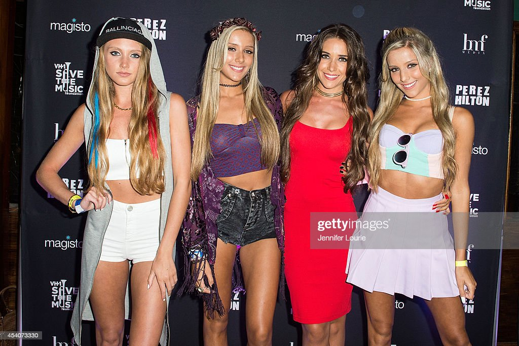 Musical group The Rosso Sisters arrives at 'One Night In Los Angeles' presented by Perez Hilton at The Troubadour on August 23, 2014 in Los Angeles, California.