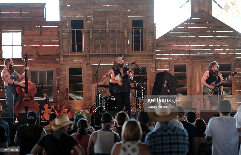 Musical group Tigerman WOAH performs onstage during 2016 Stagecoach California's Country Music Festival at Empire Polo Club on April 29, 2016 in Indio, California.