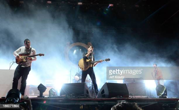 Musical group Vampire Weekend performs onstage during day 2 of the Life is Beautiful festival on October 27 2013 in Las Vegas Nevada