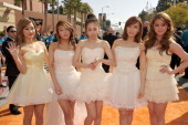 Musical group Wonder Girls arrive at Nickelodeon's 25th Annual Kids' Choice Awards held at Galen Center on March 31 2012 in Los Angeles California