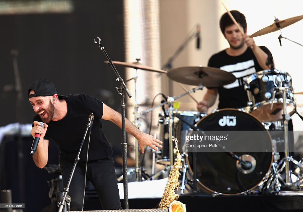 Musical group X Ambassadors performs on the Marilyn Stage during day 1 of the 2014 Budweiser Made in America Festival at Los Angeles Grand Park on...