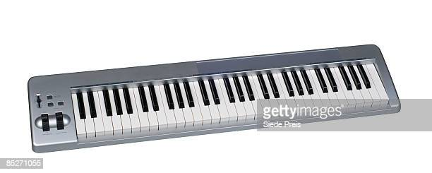 Musical Keyboard on White Background