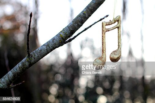 Musical note on the tree