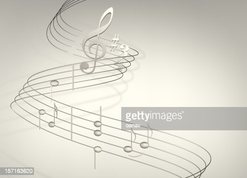 musical notes on white