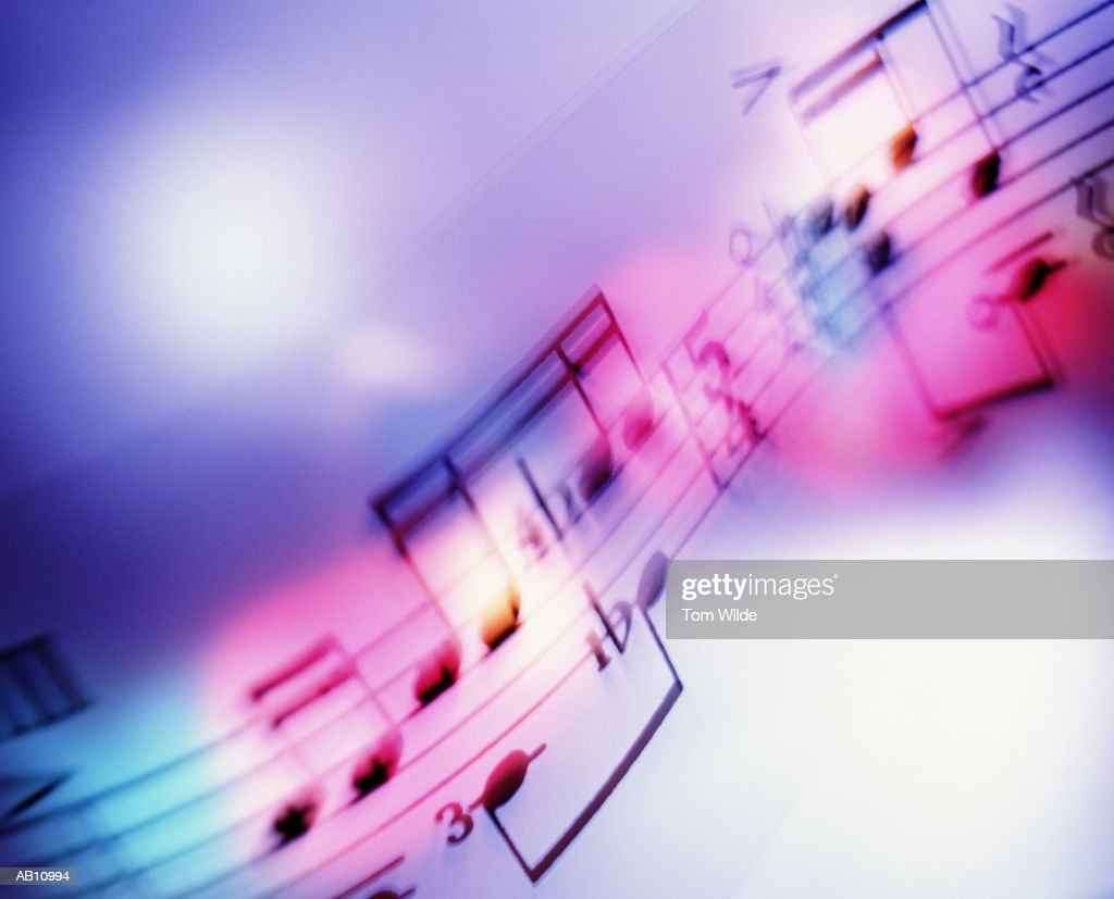 Musical notes (blurred motion) : Stock Photo