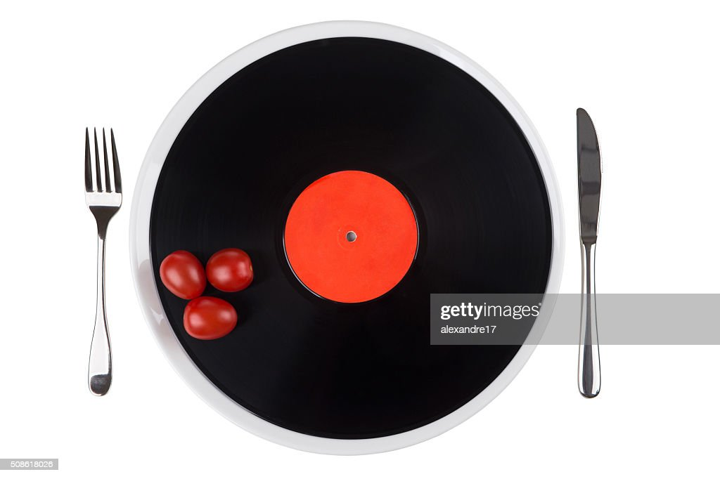 musical plate on a plate : Stock Photo