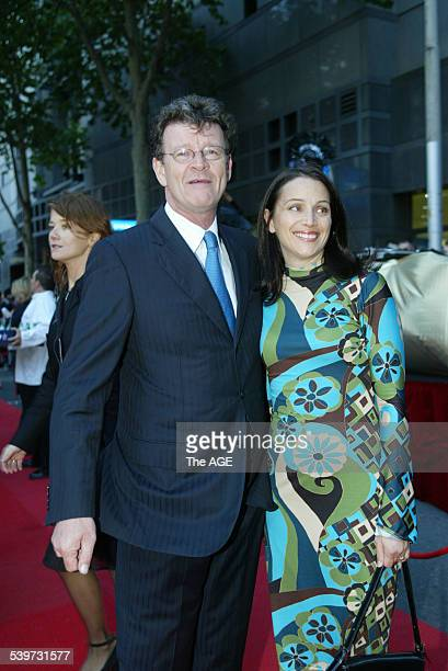 Musican and TV personality Red Symons with his wife at the AFI awards in Sydney 21 November 2003 The Age Picture by ANGELA WYLIE