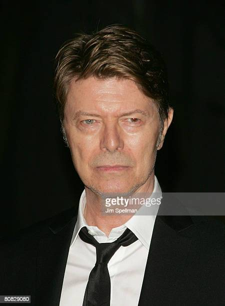 Musican David Bowie arrives at the 7th Annual Tribeca Film Festival Vanity Fair Party at the State Supreme Courthouse on April 22 2008 in New York...