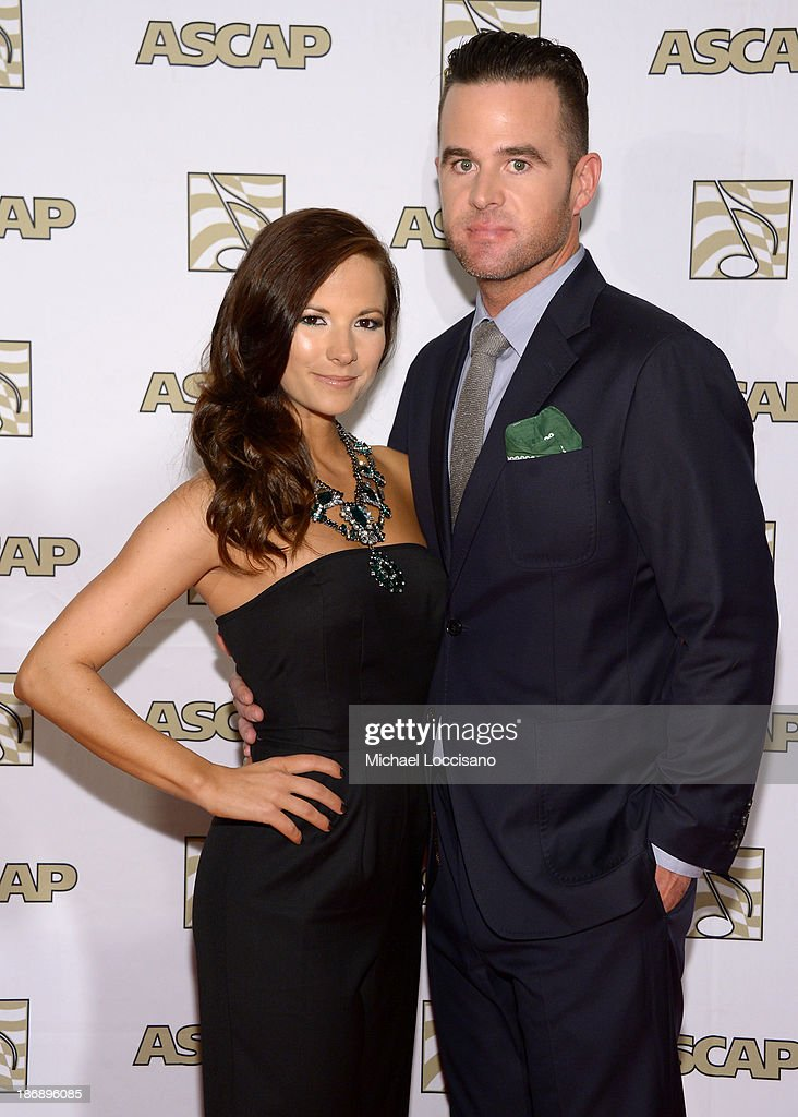 Musican David Nail (R) and Catherine Werne attend the 51st annual ASCAP Country Music Awards at Music City Center on November 4, 2013 in Nashville, Tennessee.