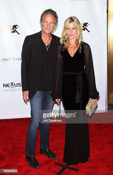 musican lindsey buckingham and wife arrive at the 4th