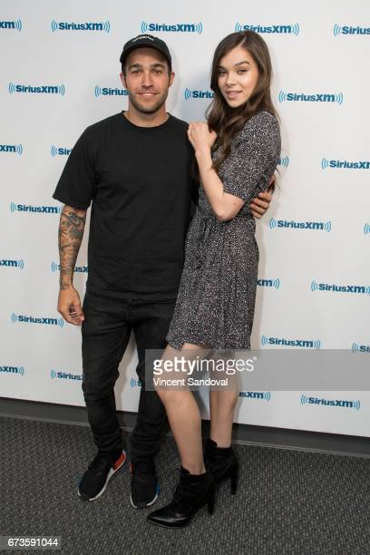 Musican Pete Wentz and singer/actress Hailee Steinfeld visit 'Hits 1 In Hollywood' on SiriusXM Hits 1 Channel at The SiriusXM Studios in Los Angeles...