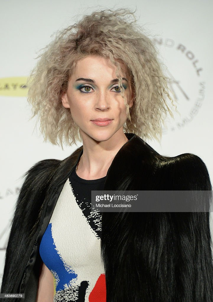Musican St. Vincent attends the 29th Annual Rock And Roll Hall Of Fame Induction Ceremony at Barclays Center of Brooklyn on April 10, 2014 in New York City.