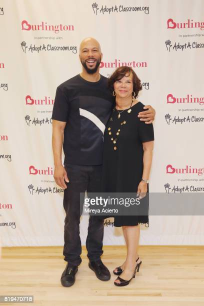 Musican/actor Common and Dr Mahalia Hines attend AdoptAClassroom Event at Renaissance School of the Arts on July 20 2017 in New York City