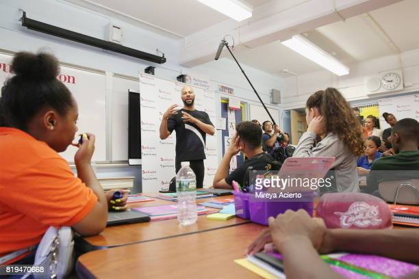Musican/actor Common attends AdoptAClassroom Event at Renaissance School of the Arts on July 20 2017 in New York City