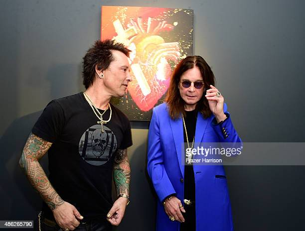 MusicanArtist Billy Morrison and musican Ozzy Osbourne attend an VIP Opening Reception For 'DisEase' An Evening Of Fine Art With Billy Morrison at...