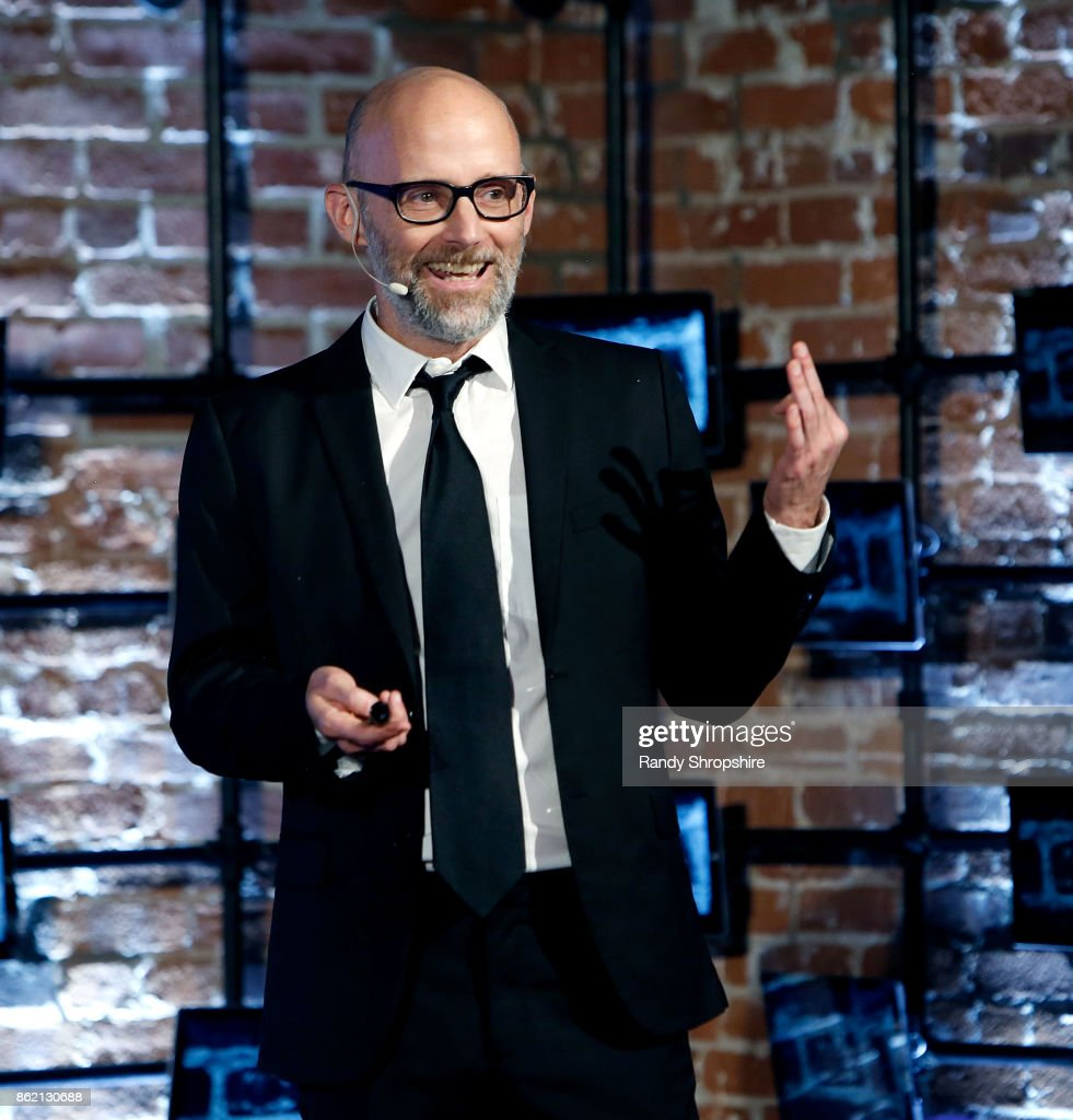 Musicial artist Moby speaks during TEDx Venice Beach - Wild Thoughts on October 15, 2017 in Venice, California.