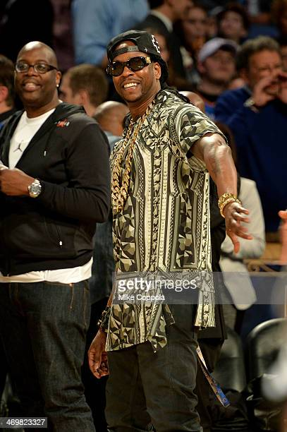 Musician 2 Chainz attends the 63rd NBA AllStar Game 2014 at the Smoothie King Center on February 16 2014 in New Orleans Louisiana
